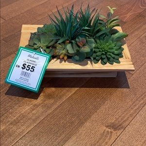 Michaels succulent artificial plants centerpiece